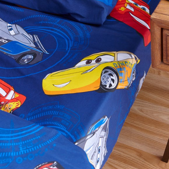 Disney Cars Fitted Sheet Blue undefined