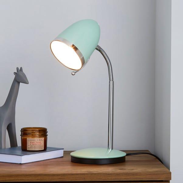 Tate Seafoam and Chrome Desk Lamp Seafoam