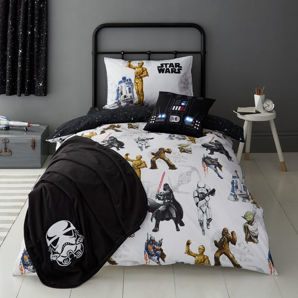 Disney Star Wars Glow in the Dark Duvet Cover and Pillowcase Set  undefined