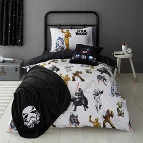 Disney Star Wars Glow in the Dark Duvet Cover and Pillowcase Set