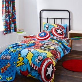 Disney Marvel Comics Duvet Cover and Pillowcase Set