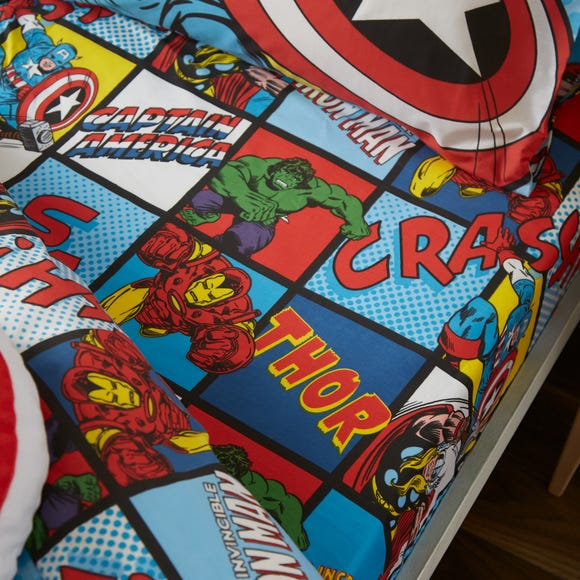 Disney Marvel Comics Fitted Sheet Pink undefined