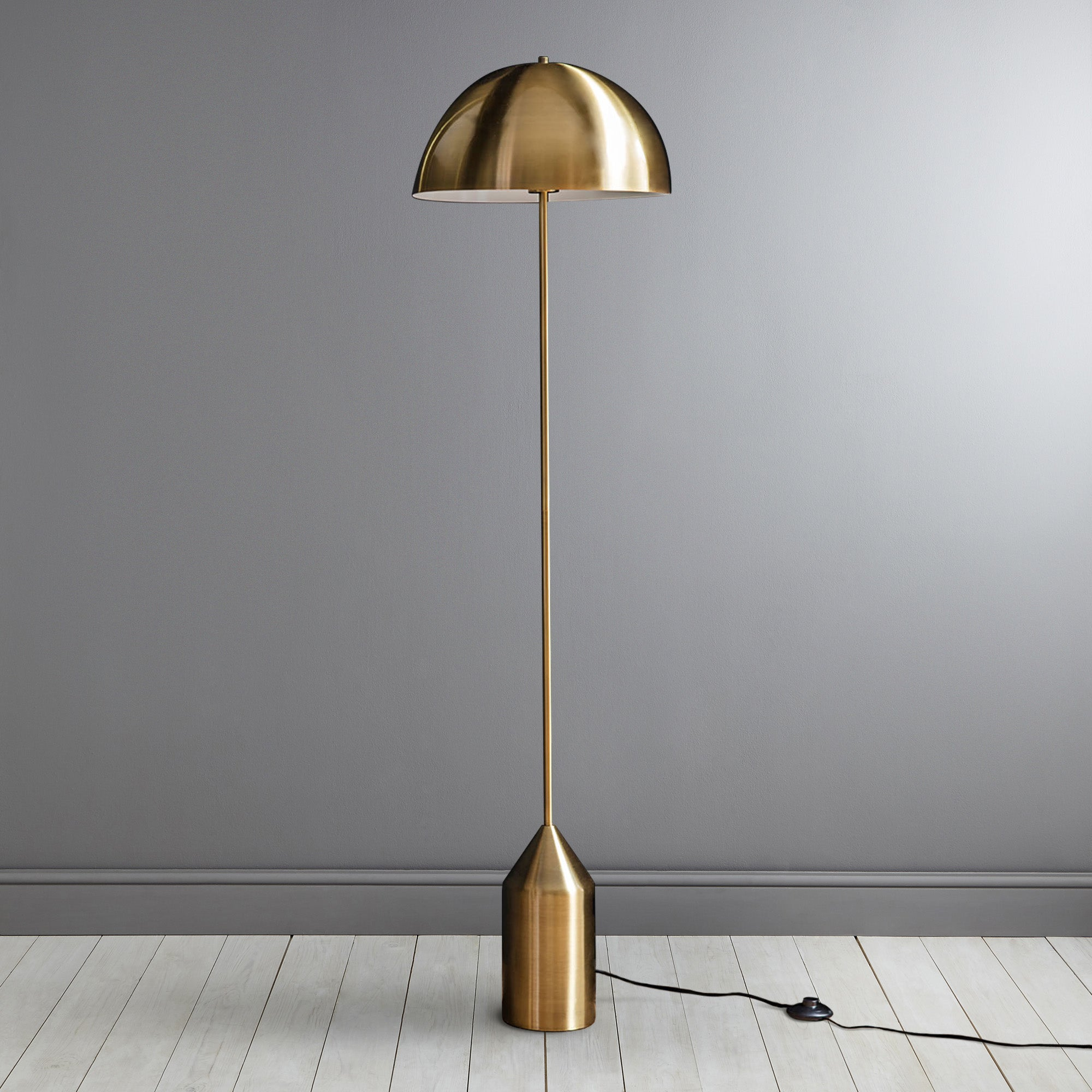 Dunelm Gallery Direct Albany Floor Lamp Gold Gold