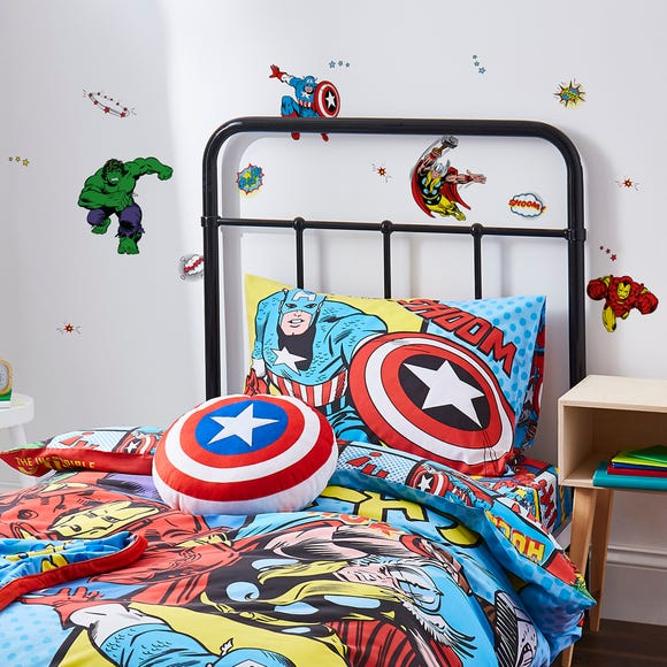 Disney Marvel Comics Wall Stickers Multi Coloured