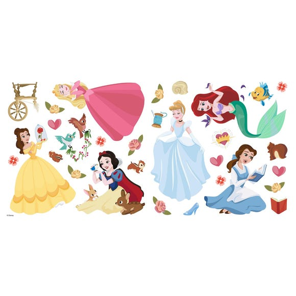 Princess Wall Stickers Multi Coloured