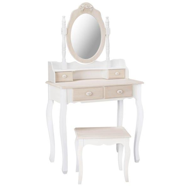 Juliette White Dressing Table White