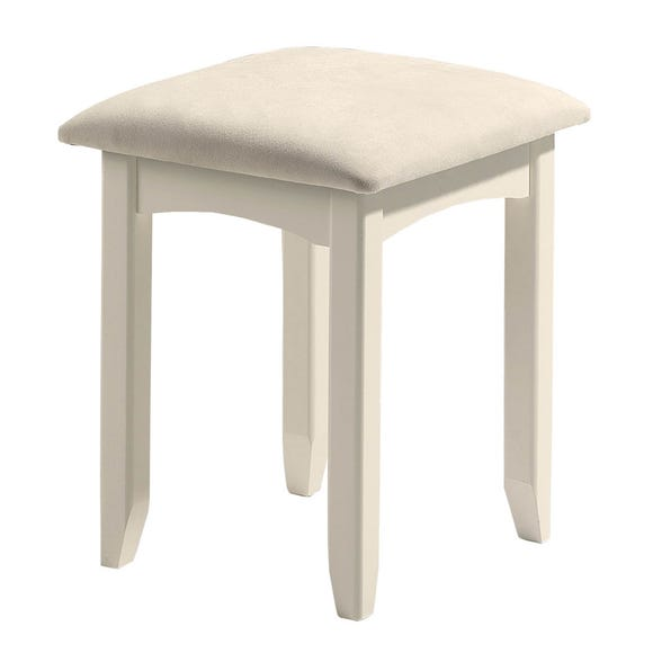 Cameo White Dressing Table Stool White