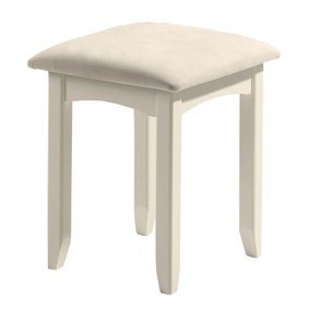 Cameo White Dressing Table Stool