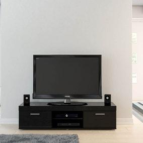 Edgeware Black TV Stand