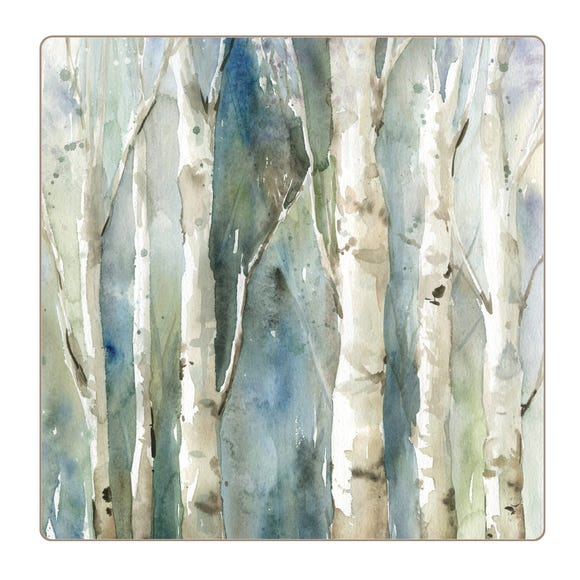 Set of 4 Enhanced Forest Placemats Blue