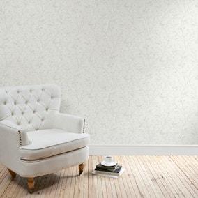 Ivory Sprig Wallpaper