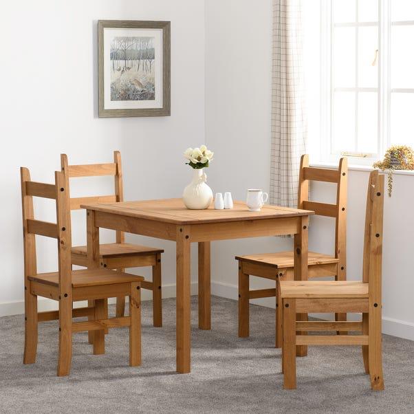 Corona Pine 4 Seater Dining Set Natural