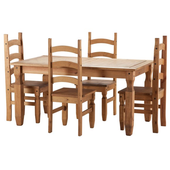 Corona Pine 4 Seater Dining Set Natural