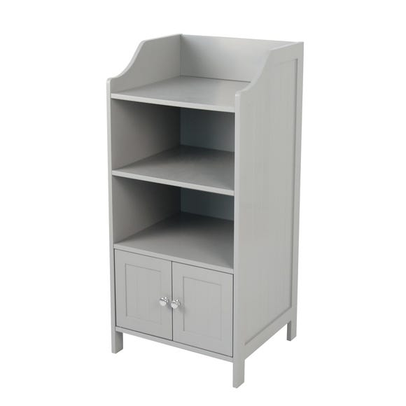 Rimini Grey 2 Door 3 Shelf Unit Grey