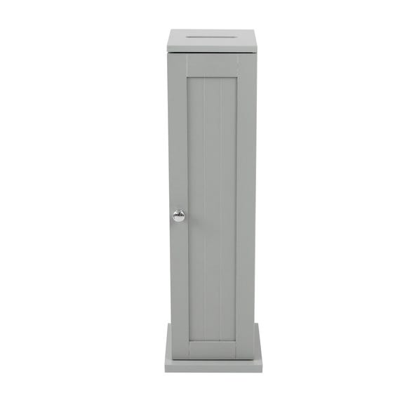 Rimini Grey Toilet Roll Cabinet Grey