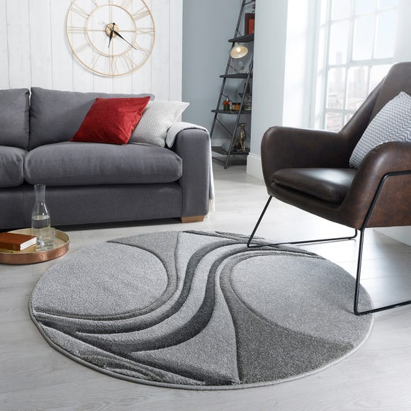 Mirage Circle Rug Mirage Charcoal (Grey) undefined
