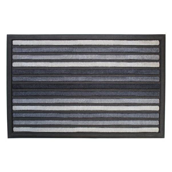 Scrape N' Sorb Grey Stripe Doormat Grey