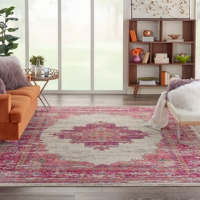 Ivory and Fuchsia Passion Rug