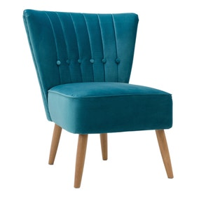 Isla Velvet Cocktail Chair - Teal