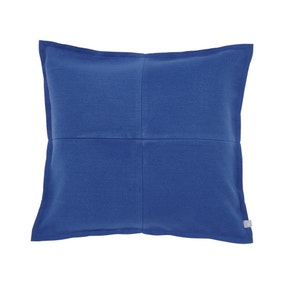 Elements Patchwork Felt Blue Cushion