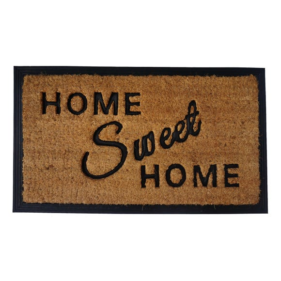 Natural Home Sweet Home Coir Doormat Natural