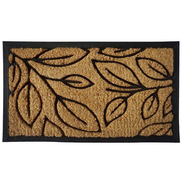 Natural Leaves Coir Doormat Natural