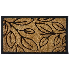 Natural Leaves Coir Doormat