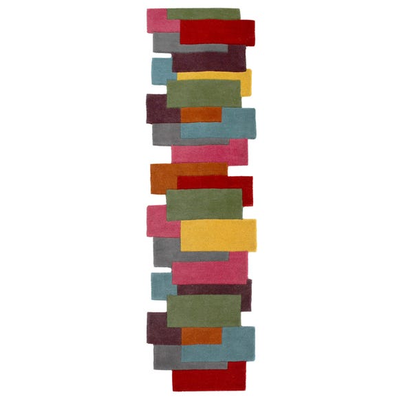 Abstract Collage Runner Multi Coloured undefined
