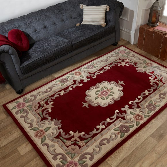 Lotus Premium Aubusson Rug Aubusson Red undefined