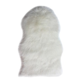 Single Pelt Faux Sheepskin Rug
