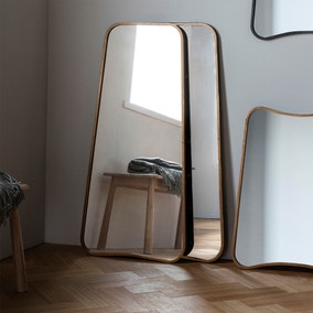 Kurva Gold 122x59cm Leaner Mirror