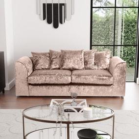 Blake Crushed Velvet 3 Seater Sofa
