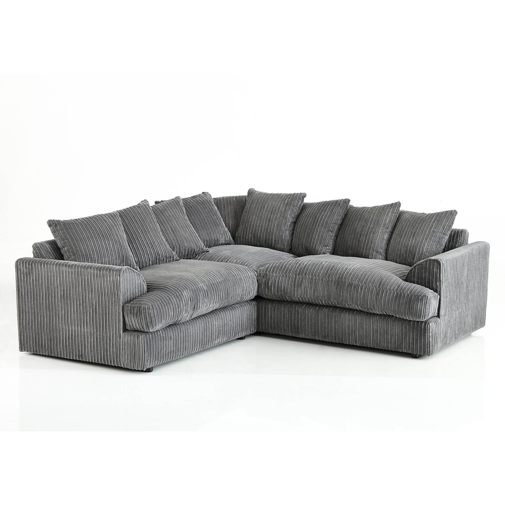 Jasper Large Corner Sofa Black