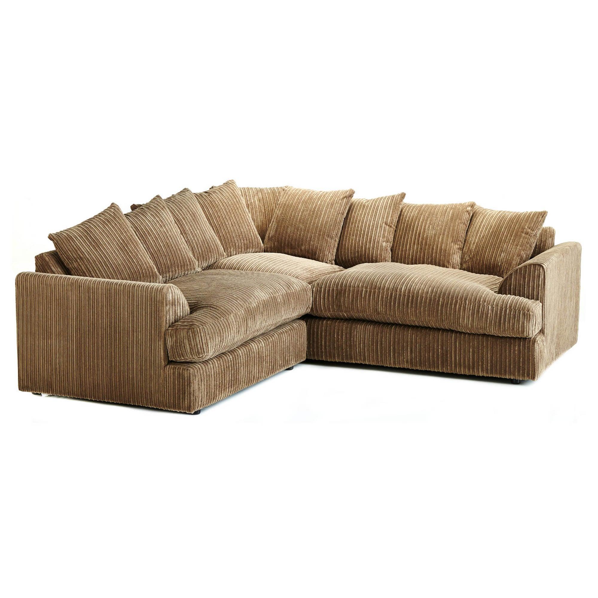Jasper Large Corner Sofa Brown