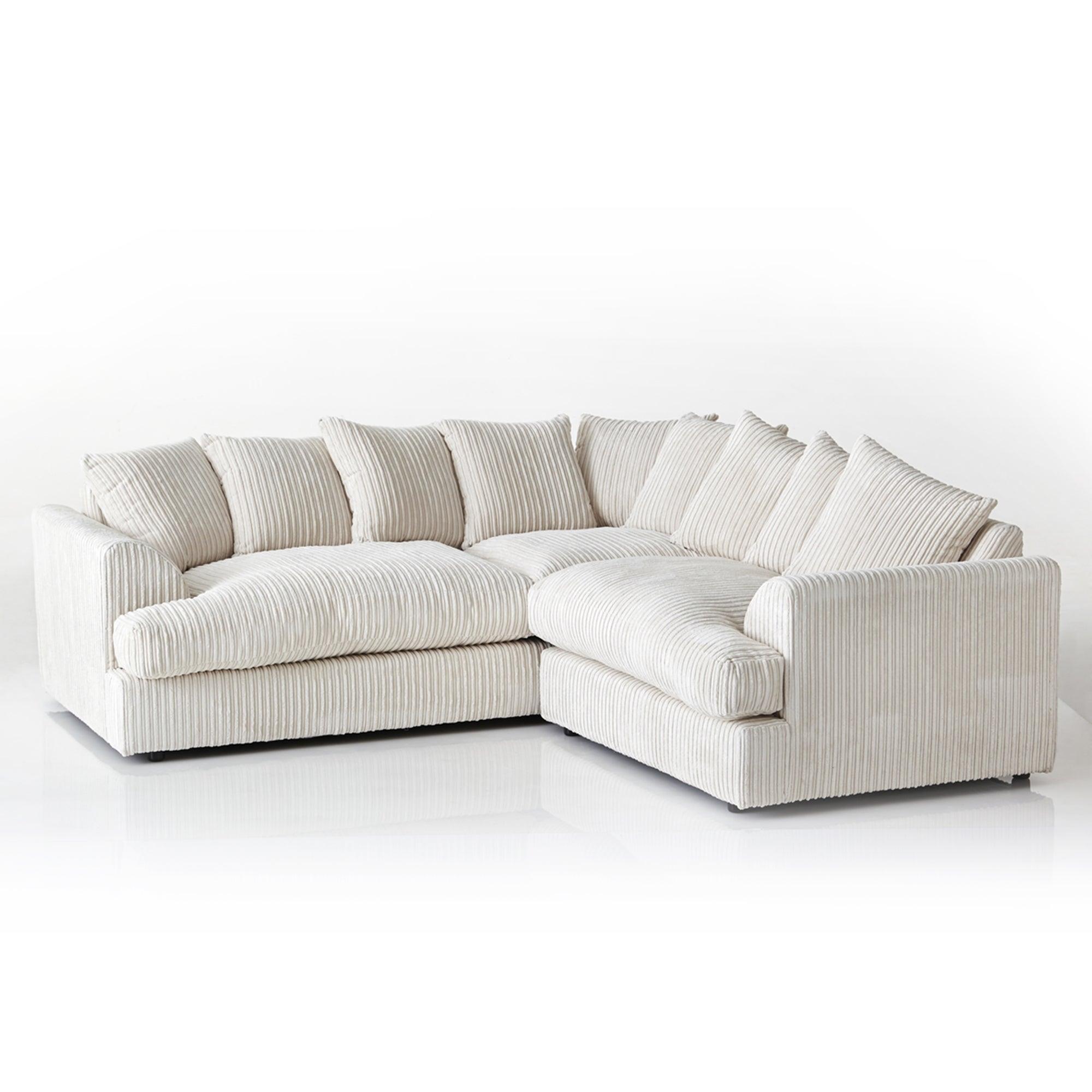 Jasper Large Corner Sofa Cream
