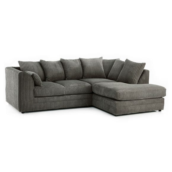 Chicago Jumbo Cord Right Hand Corner Sofa Grey