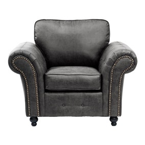 Oakland Faux Leather Armchair