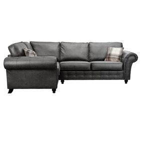 Oakland Left Hand Faux Leather Corner Sofa