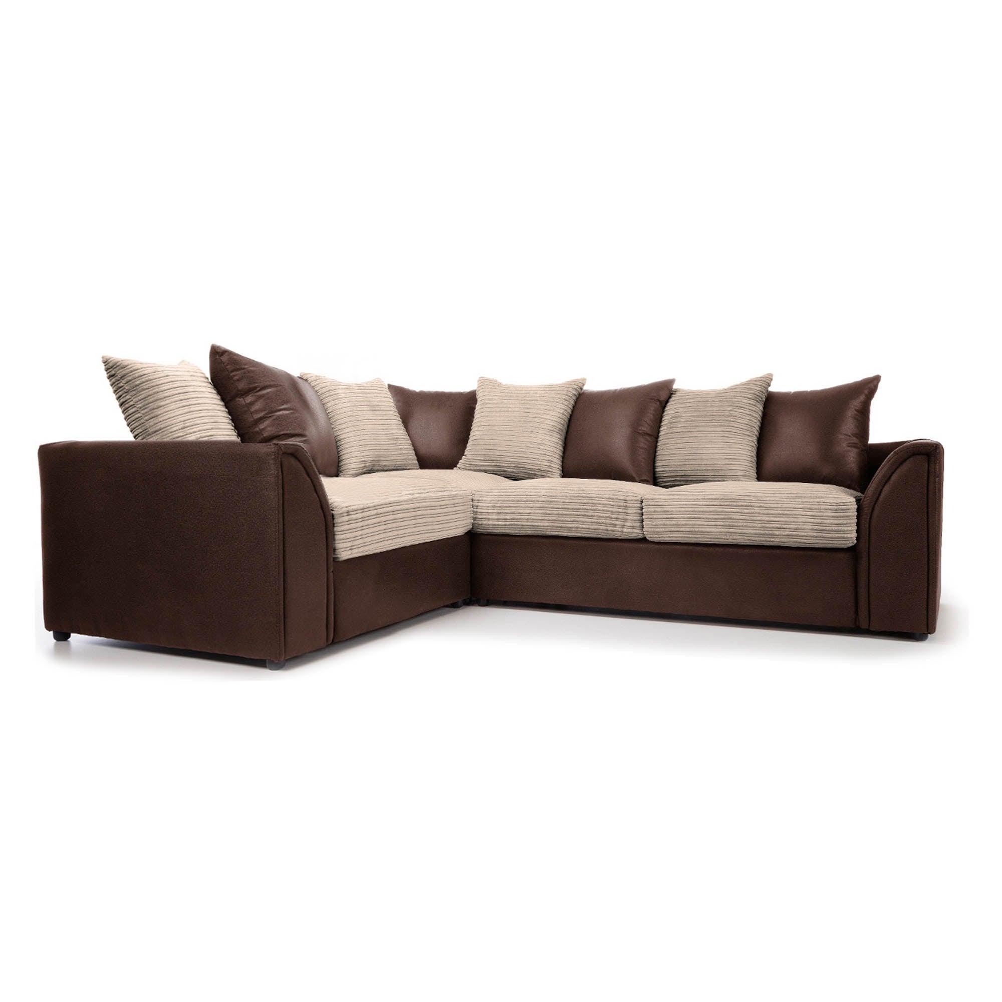 Byron Left Hand Corner Sofa Bed Brown