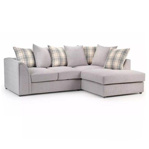 Nevada Right Hand Corner Sofa Light Grey