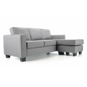 Vincent Fabric Reversible Corner Chaise Sofa