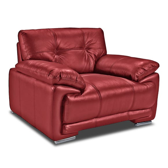 Plaza Faux Leather Armchair Red