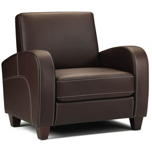 Vivo Faux Leather Armchair - Brown Brown