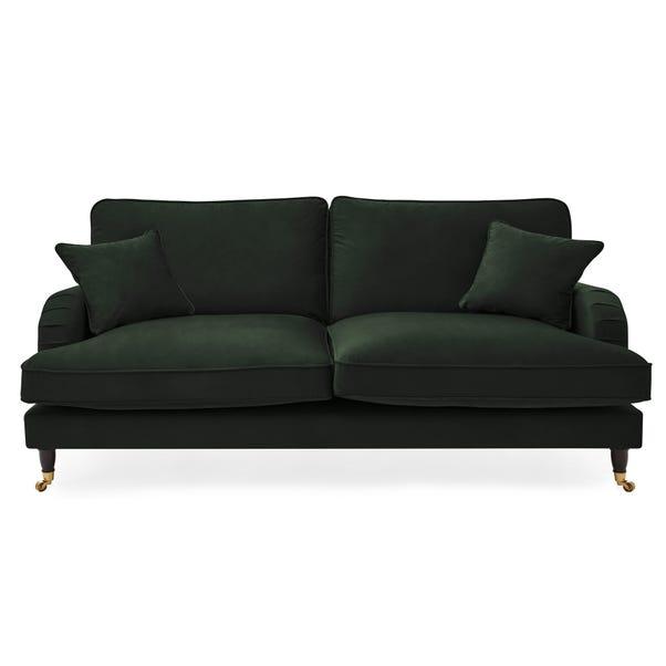 Rupert 3 Seater Velvet Sofa Bottle (Green)