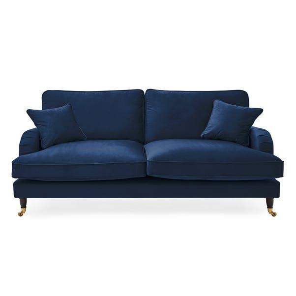 Rupert 3 Seater Velvet Sofa Royal Blue