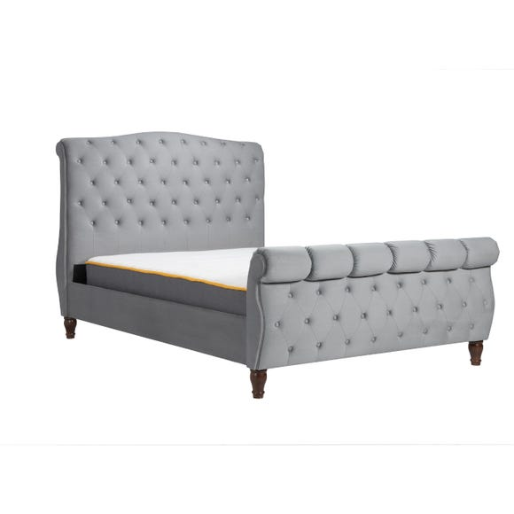 Colorado Fabric Bed Frame Grey undefined