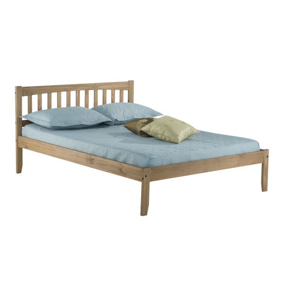 Porto Wooden Bed Frame Pine Small Double Natural undefined
