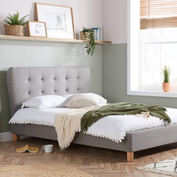 Stockholm Fabric Bed Frame Grey undefined