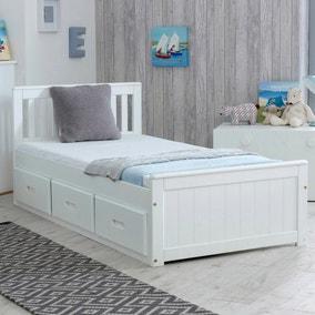 Mission White Storage Bed