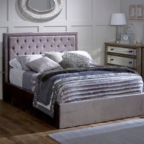 Rhea Silver Upholstered Ottoman Bed